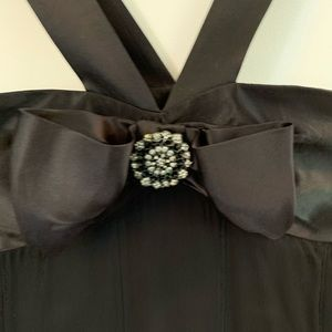Maggy London black dress with beautiful bow